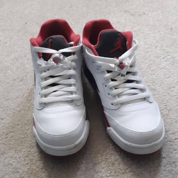 cheap for discount 1e774 c2d5d 2015 Nike Air Jordan 5 Low Retro 'Fire Red'